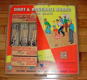 Milton Bradley dart game package
