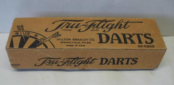 Milton Bradley darts box