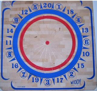 Wooden Dart Board - Widdy